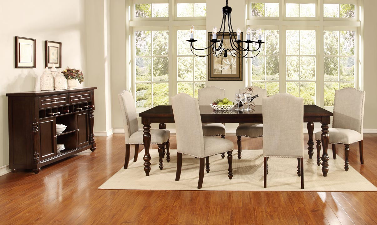 Superbe American Rustic D1888 Dining Group